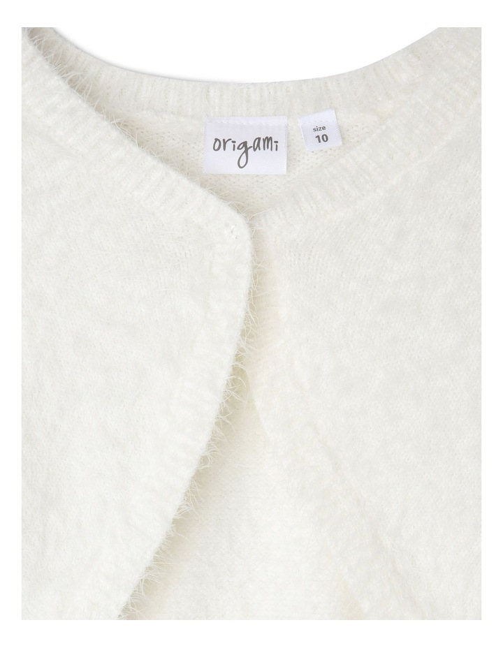 Lily Cropped Fluffy Cardigan (9-16 Years) image 2