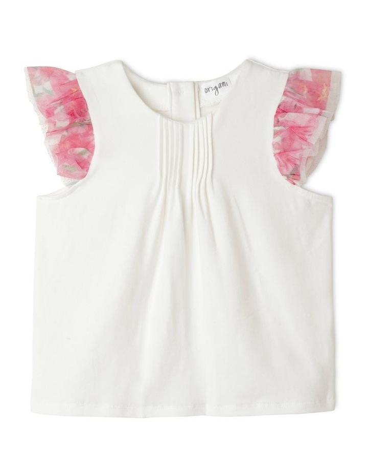 Maisie Chiffon Flutter Sleeve Top (1-8 Years) image 1