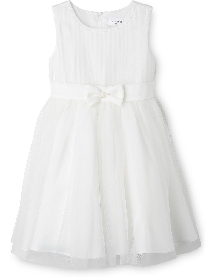 Flower Girls Dress With Bow At Waist  3-8 image 1