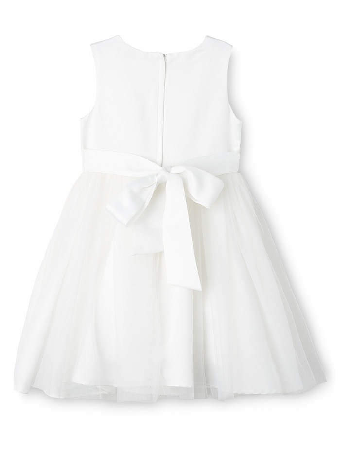 Flower Girls Dress With Bow At Waist  3-8 image 2