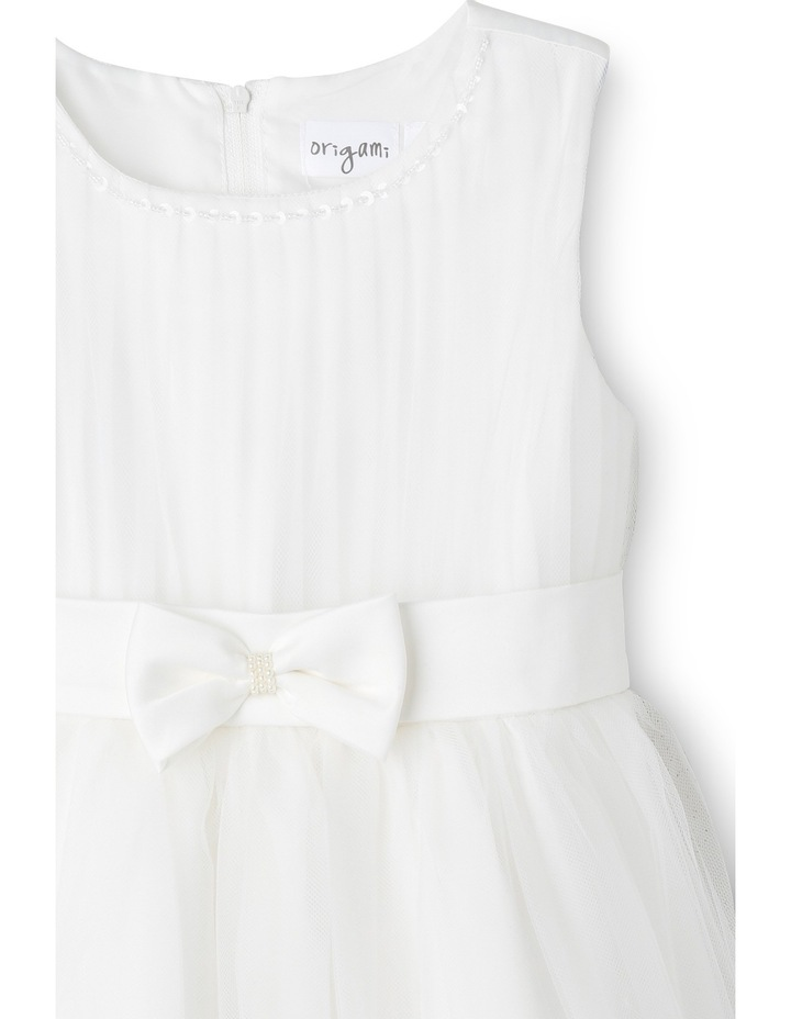 Flower Girls Dress With Bow At Waist  3-8 image 3