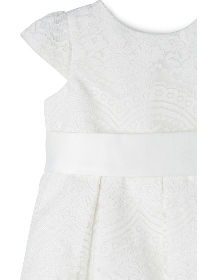 Tg Lace Pleated Flower Girl Dress With Waist Sash 0-2 image 3