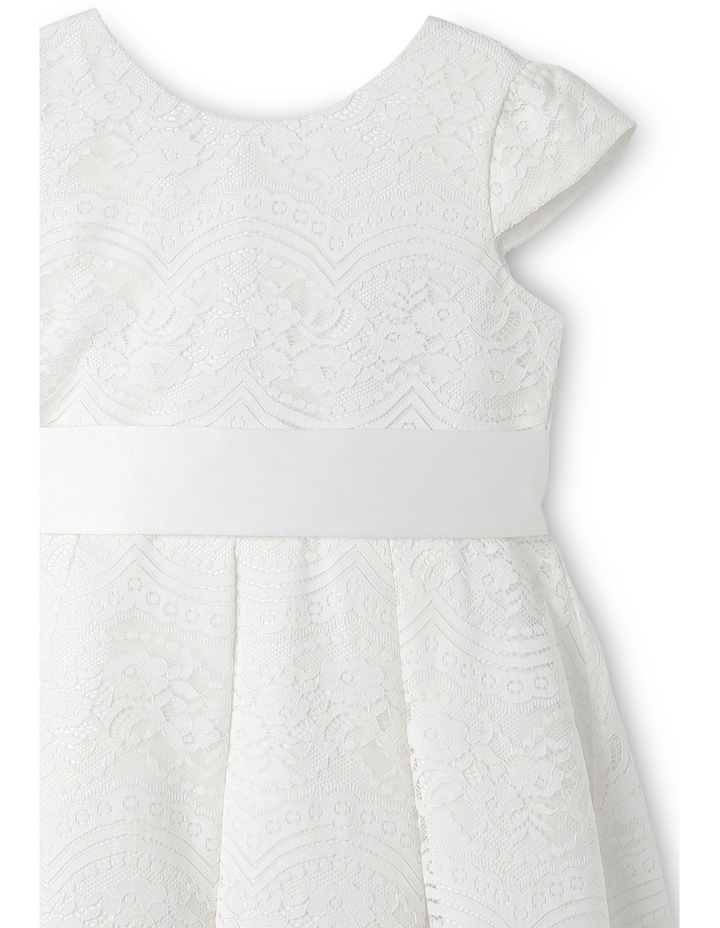 Jg Lace Pleated Flower Girl Dress With Waist Sash 3-8 image 3