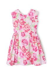 Origami - Floral Print Broderie Sundress 3-8