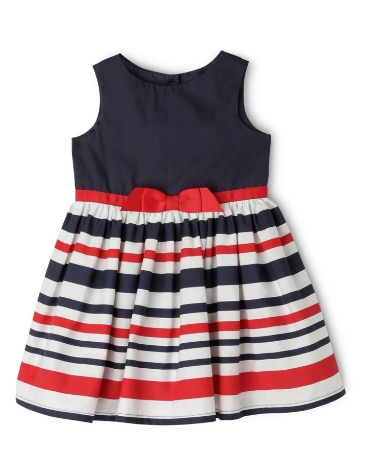 Stripe Sun Dress - Red and Navy image 1