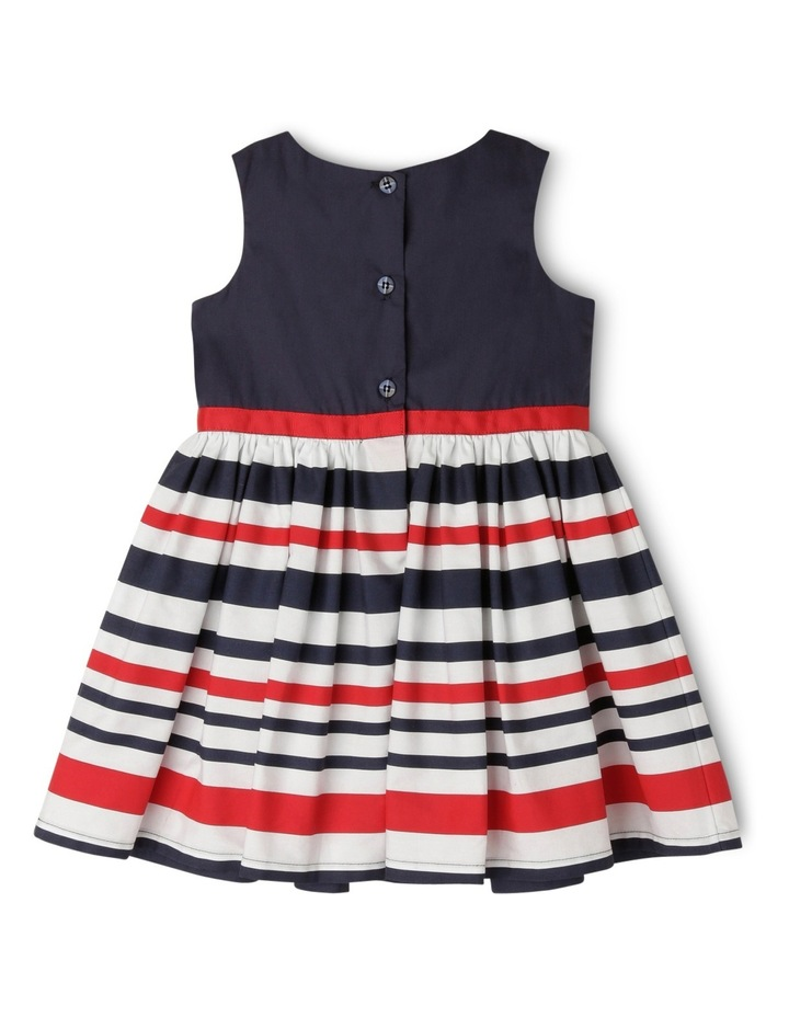 Stripe Sun Dress - Red and Navy image 2