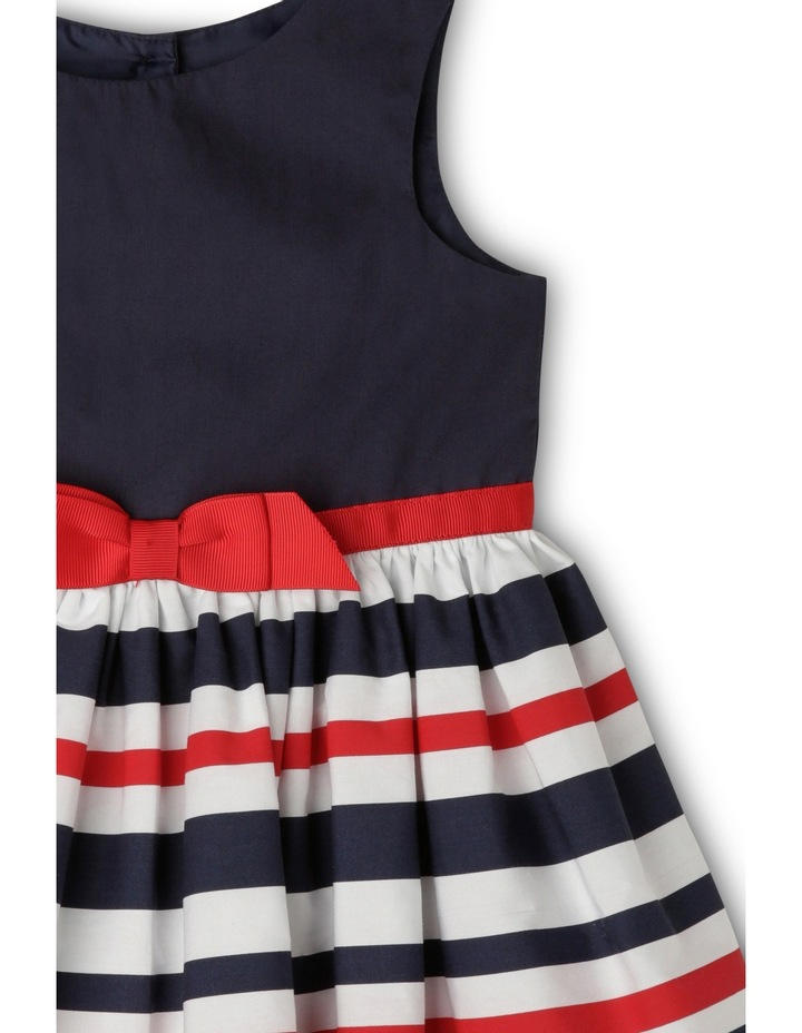 Stripe Sun Dress - Red and Navy image 3