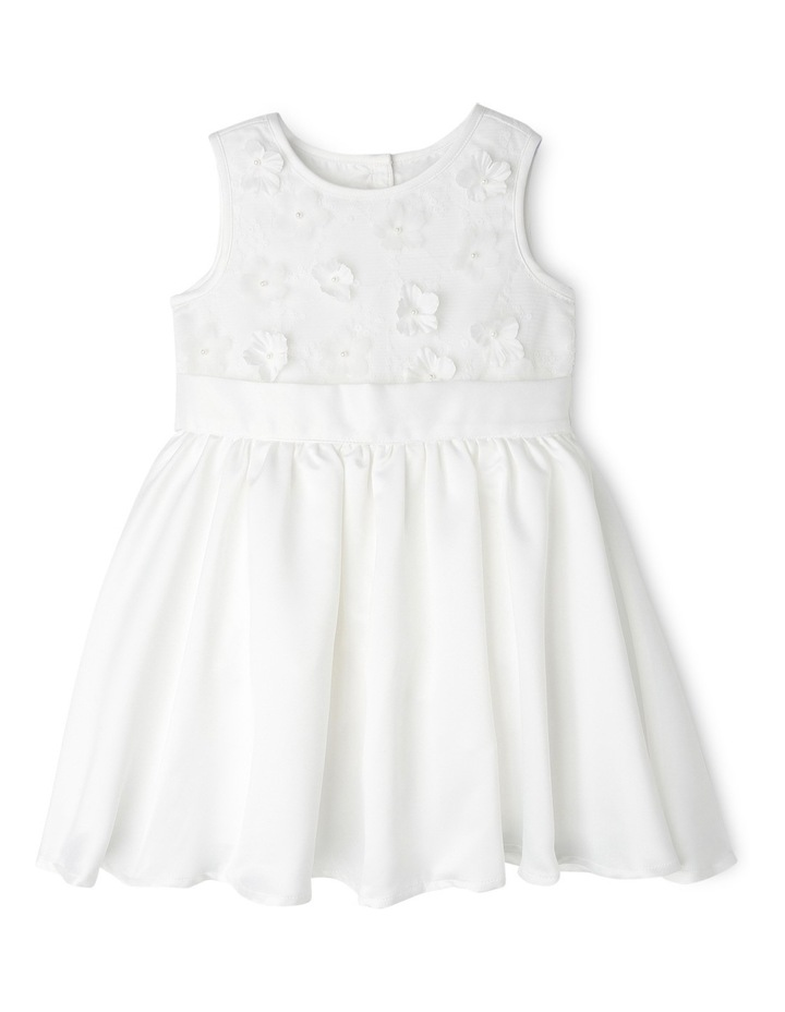 3D Flower And Bead Bodice Flower Girl Dress 0-2 image 1