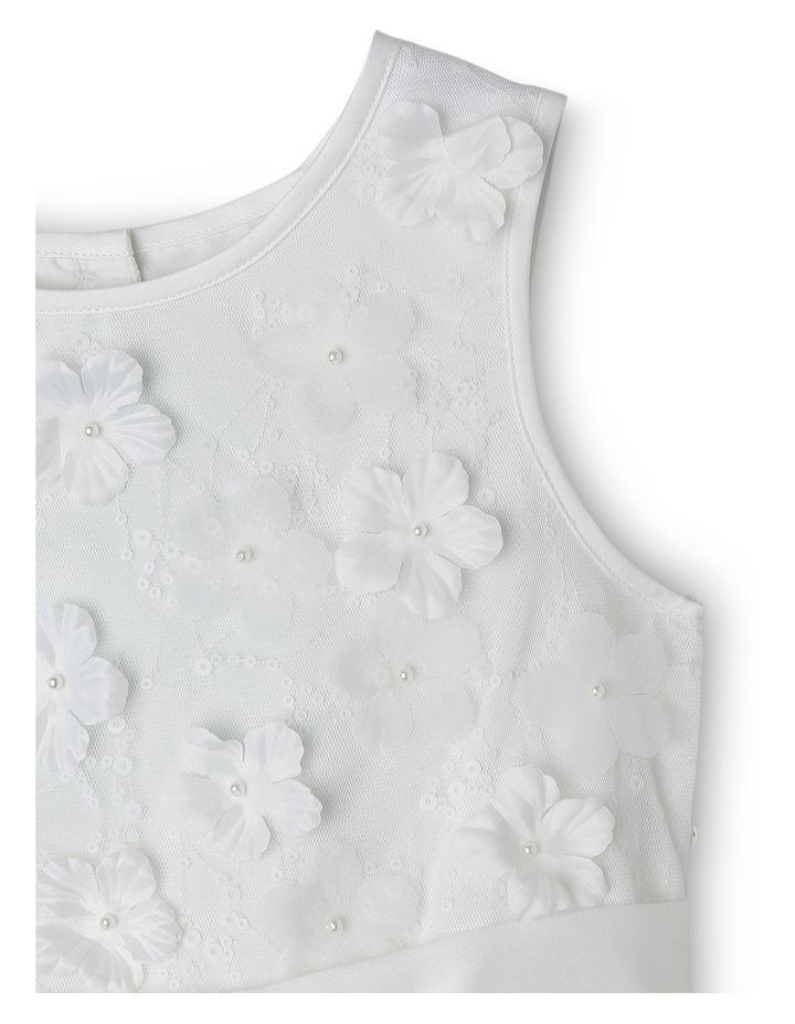 3D Flower And Bead Bodice Flower Girl Dress 3-8 image 2
