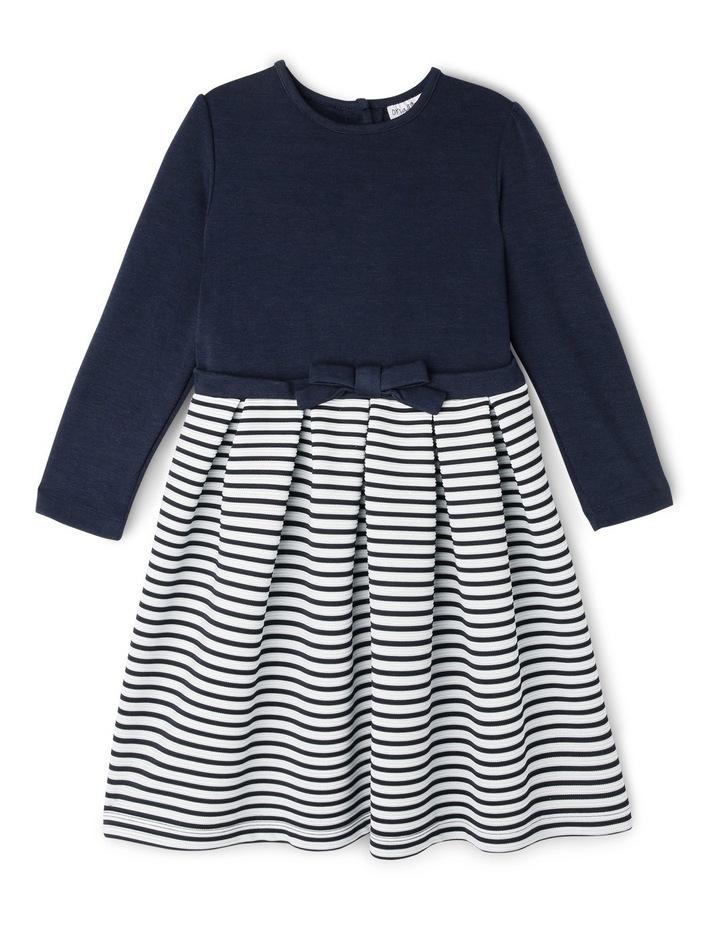 Ponti Ottoman Skirt Dress. Navy. Junior 3-8. image 1