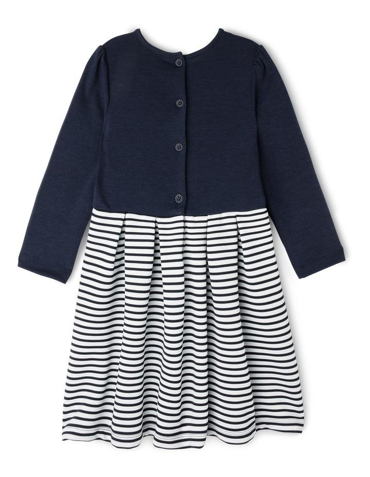 Ponti Ottoman Skirt Dress. Navy. Junior 3-8. image 2