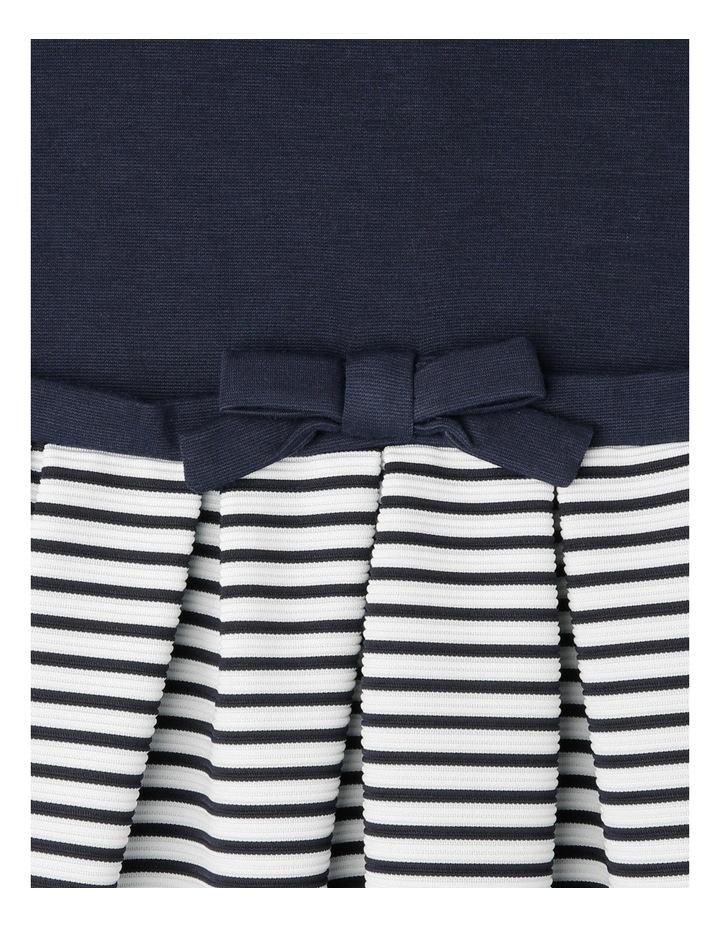 Ponti Ottoman Skirt Dress. Navy. Junior 3-8. image 3