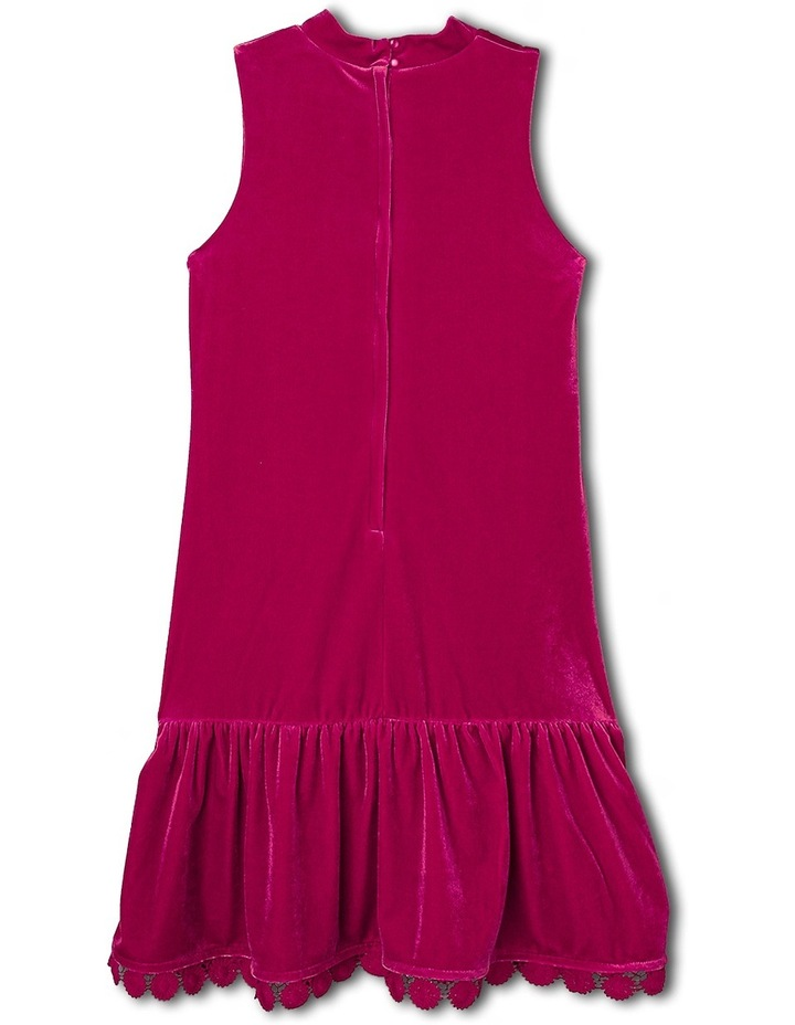 Sleeveless Velour Dress. Cherry. Senior 9-16. image 2