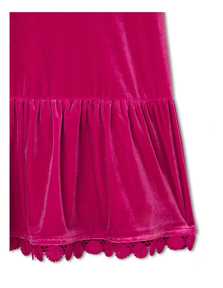 Sleeveless Velour Dress. Cherry. Senior 9-16. image 3