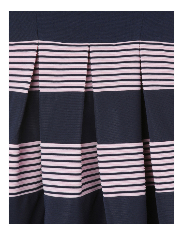 Ponti Knit Stripe Skirt Dress. Navy. Senior 9-16. image 3
