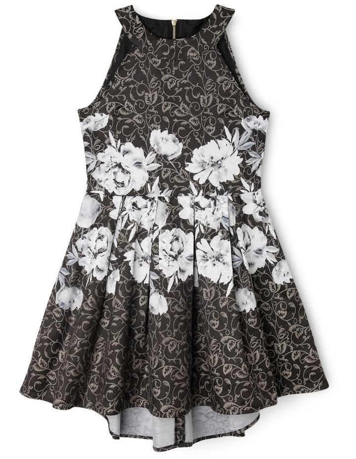 Monochrome Floral Waist Dress image 1