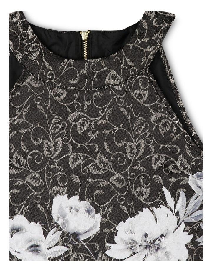 Monochrome Floral Waist Dress image 2