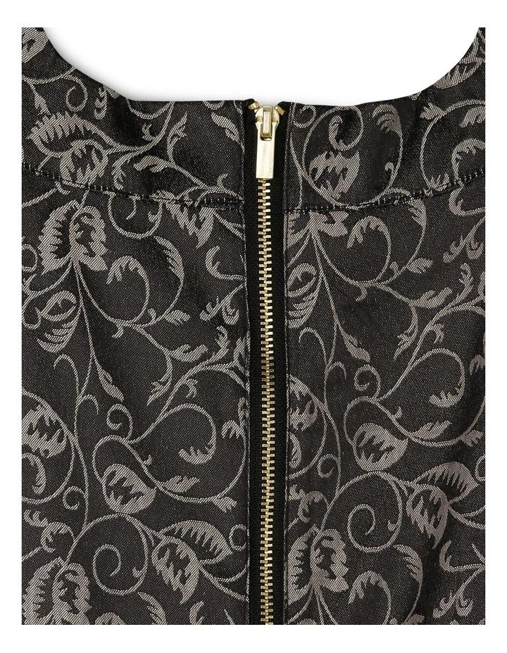 Monochrome Floral Waist Dress image 3
