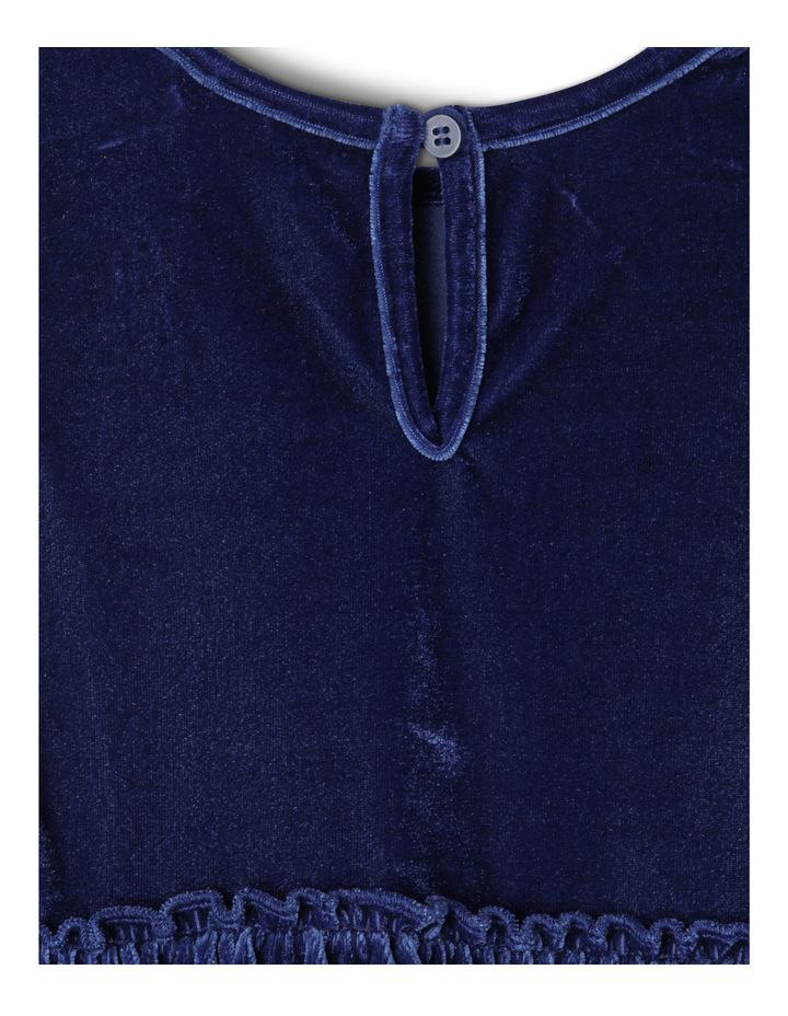 Velour Layer Dress. Toddler 0-2. Navy image 3