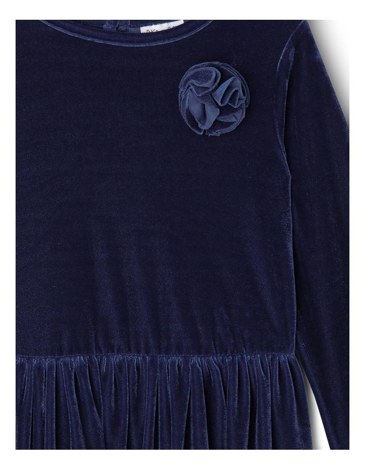 Velour Layer Dress. Junior 3-8. Navy image 2