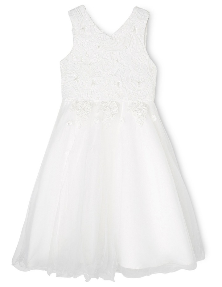 Embroidered Lace Bodice Flower Girl Dress image 1