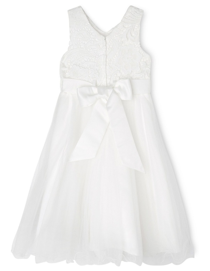 Embroidered Lace Bodice Flower Girl Dress image 2