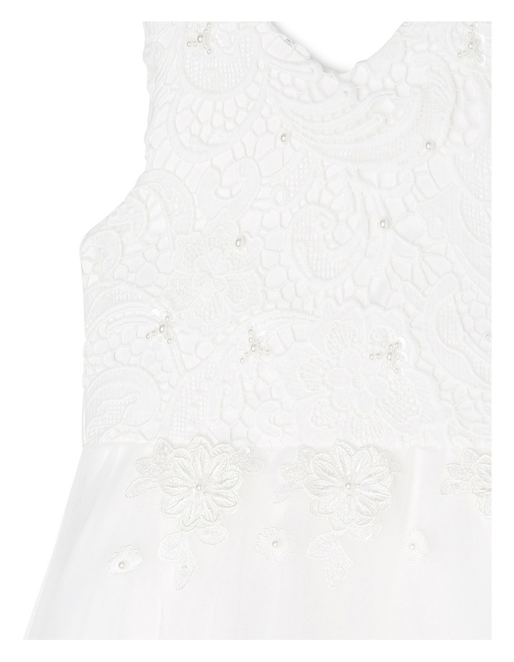 Embroidered Lace Bodice Flower Girl Dress image 3