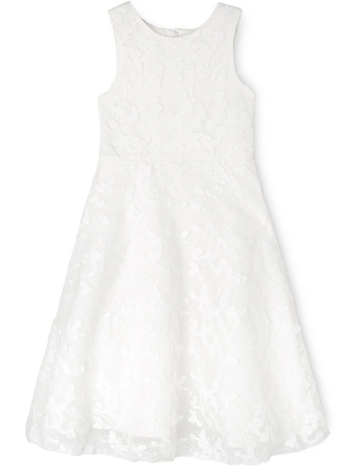 Long 3D Lace Flower Girl Dress image 1