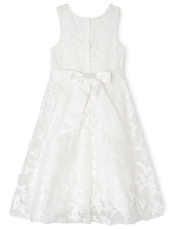 Long 3D Lace Flower Girl Dress image 2