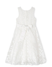 Origami - Long 3D Lace Flower Girl Dress