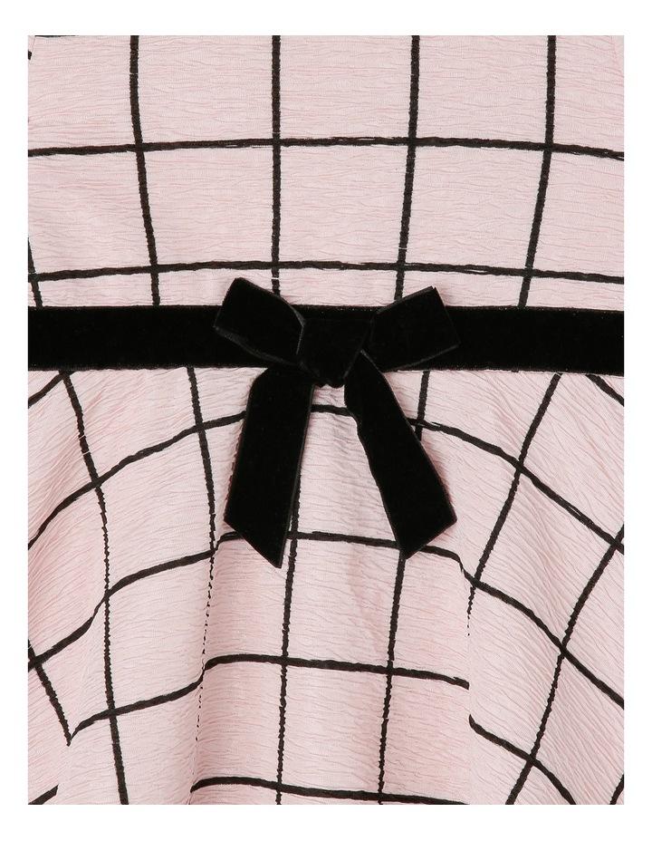 Window Pane Check Skater Dress. Toddler 0-2. image 3