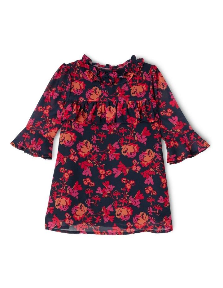 TG Autumn Print Frill Chiffon Dress 0-2 image 1
