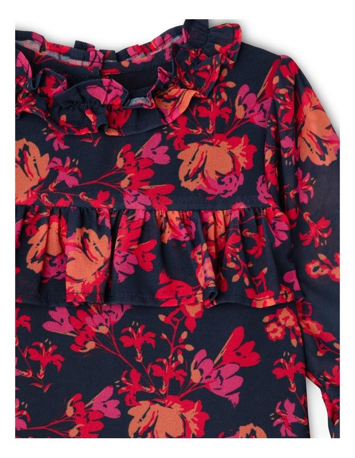 TG Autumn Print Frill Chiffon Dress 0-2 image 2
