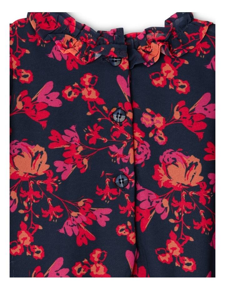 TG Autumn Print Frill Chiffon Dress 0-2 image 3