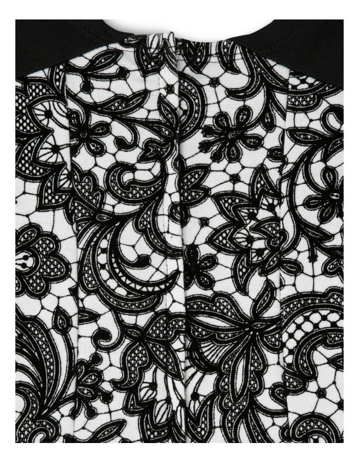 Black Flock Print Dress 0-2 image 3