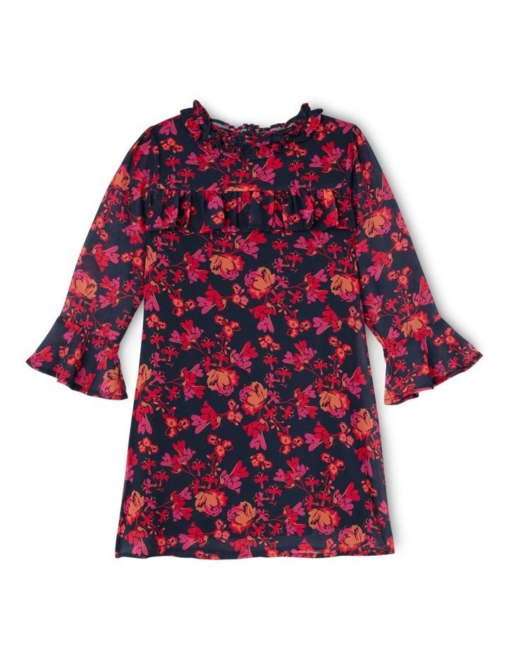 JG Autumn Print Frill Chiffon Dress 3-8 image 1