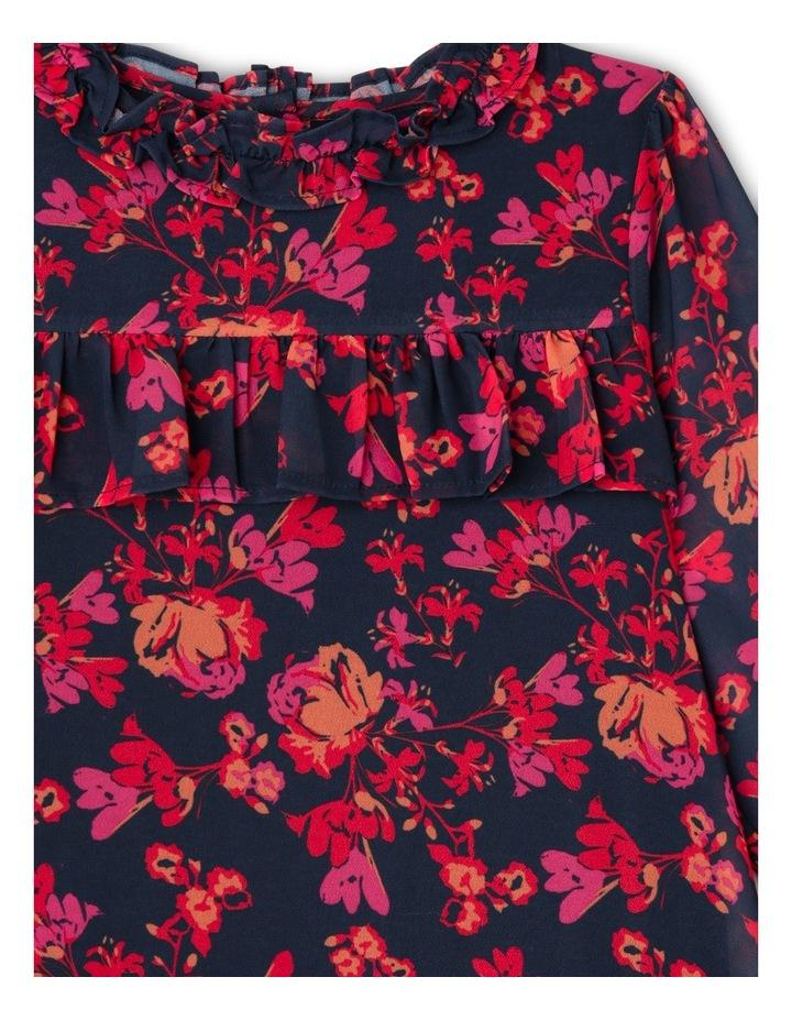 JG Autumn Print Frill Chiffon Dress 3-8 image 2