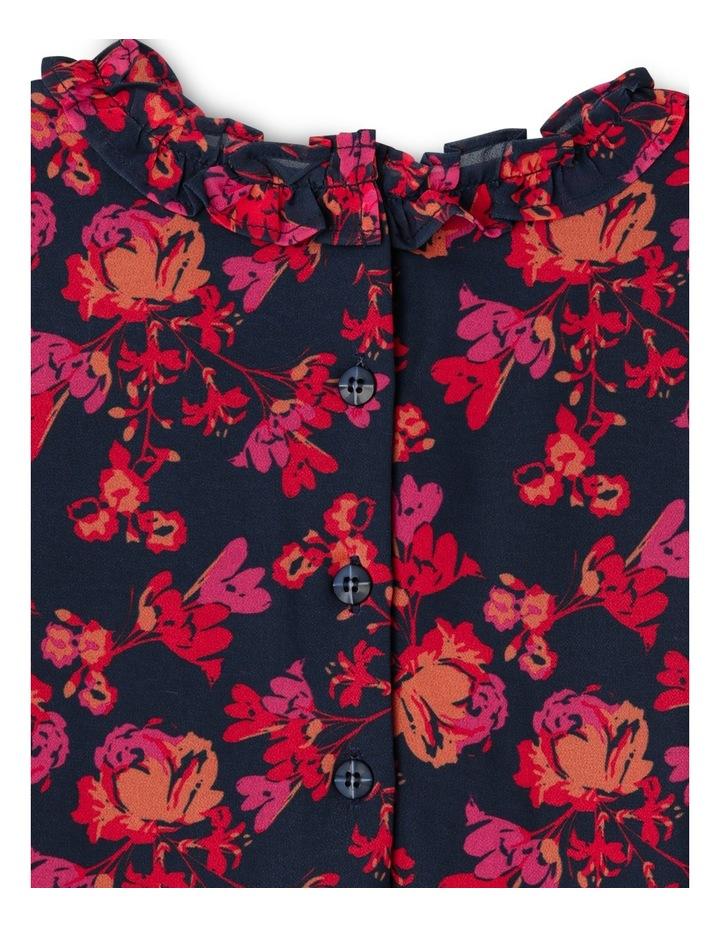 JG Autumn Print Frill Chiffon Dress 3-8 image 3