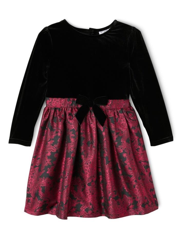 JG Black Jacquard Skirt Dress 3-8 image 1