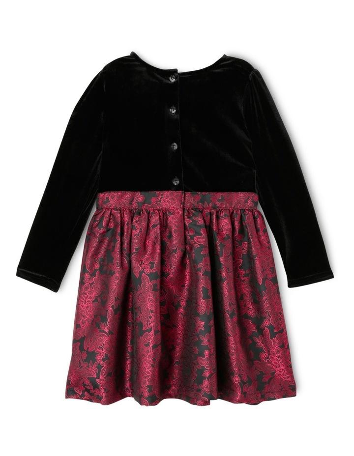 JG Black Jacquard Skirt Dress 3-8 image 2