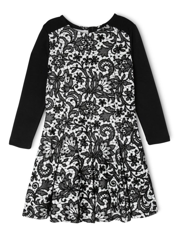 JG Black Flock Print Dress 3-8 image 1