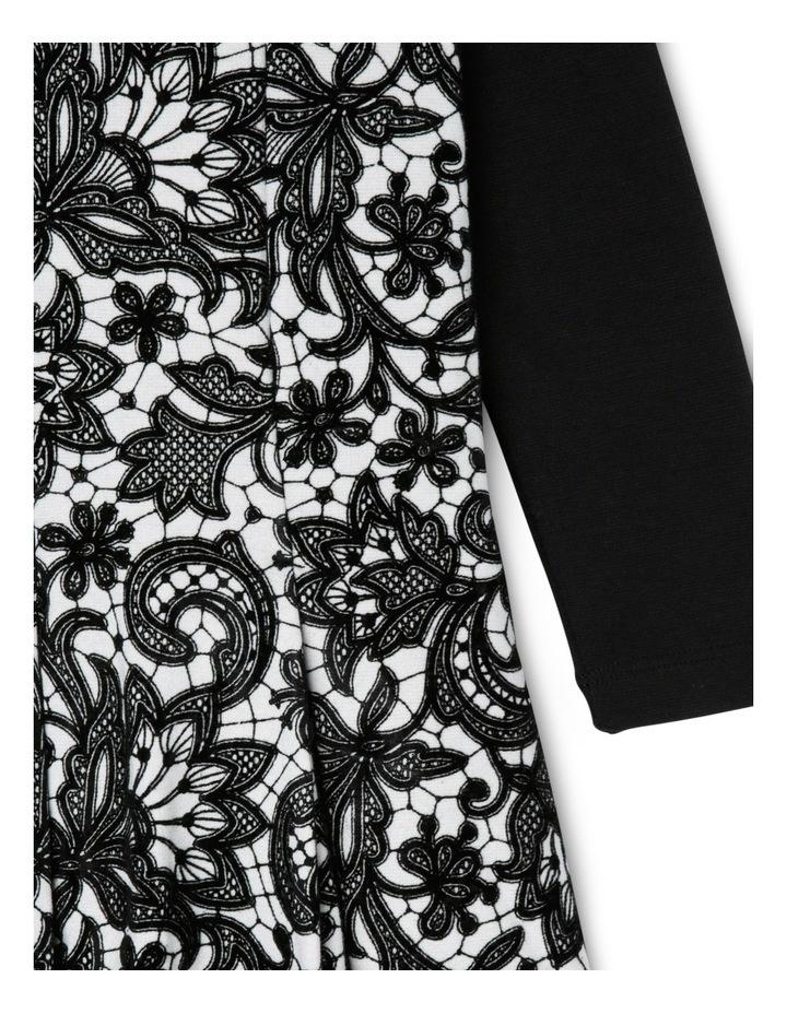 JG Black Flock Print Dress 3-8 image 2
