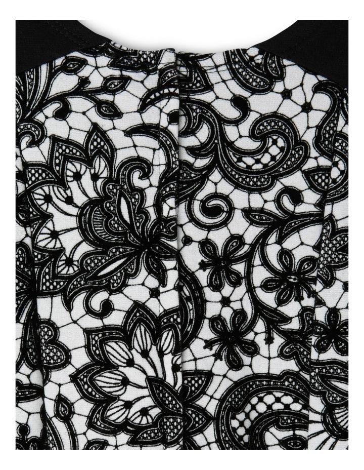 JG Black Flock Print Dress 3-8 image 3