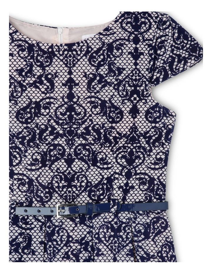 Navy Blush Flock Print Dress 9-16 image 2