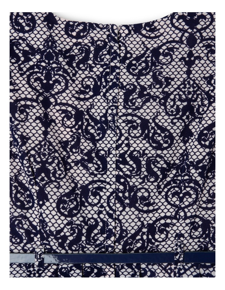Navy Blush Flock Print Dress 9-16 image 3