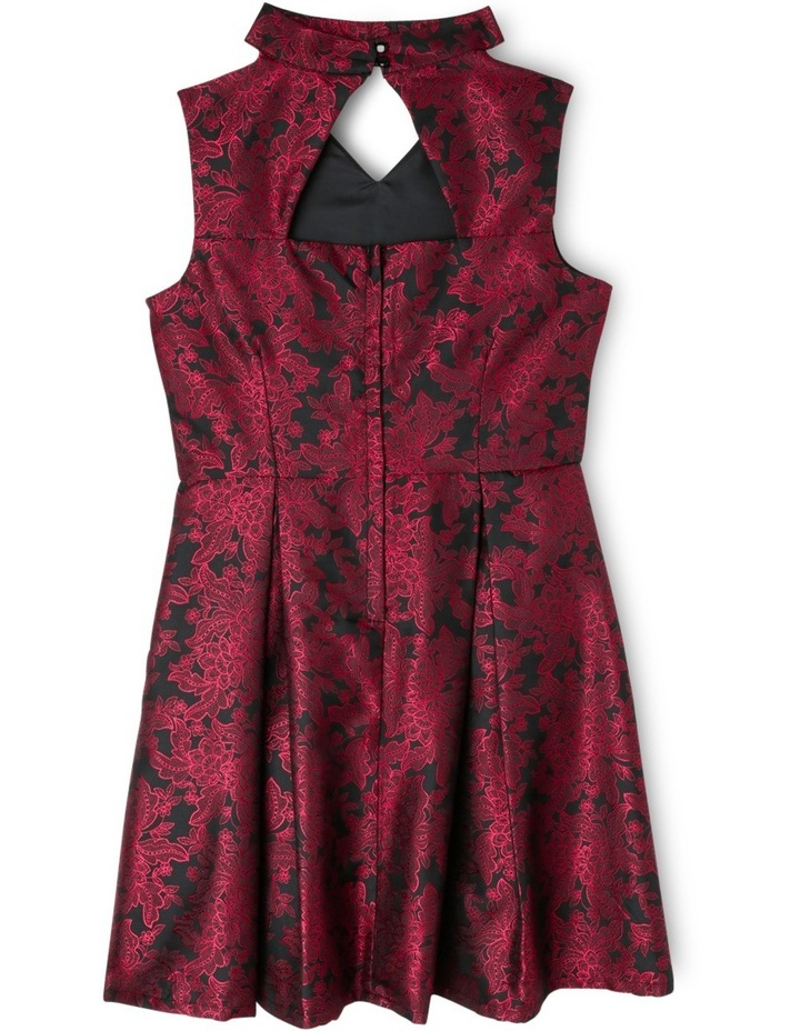 SG Black Floral Jacquard Dress 9-16 image 2