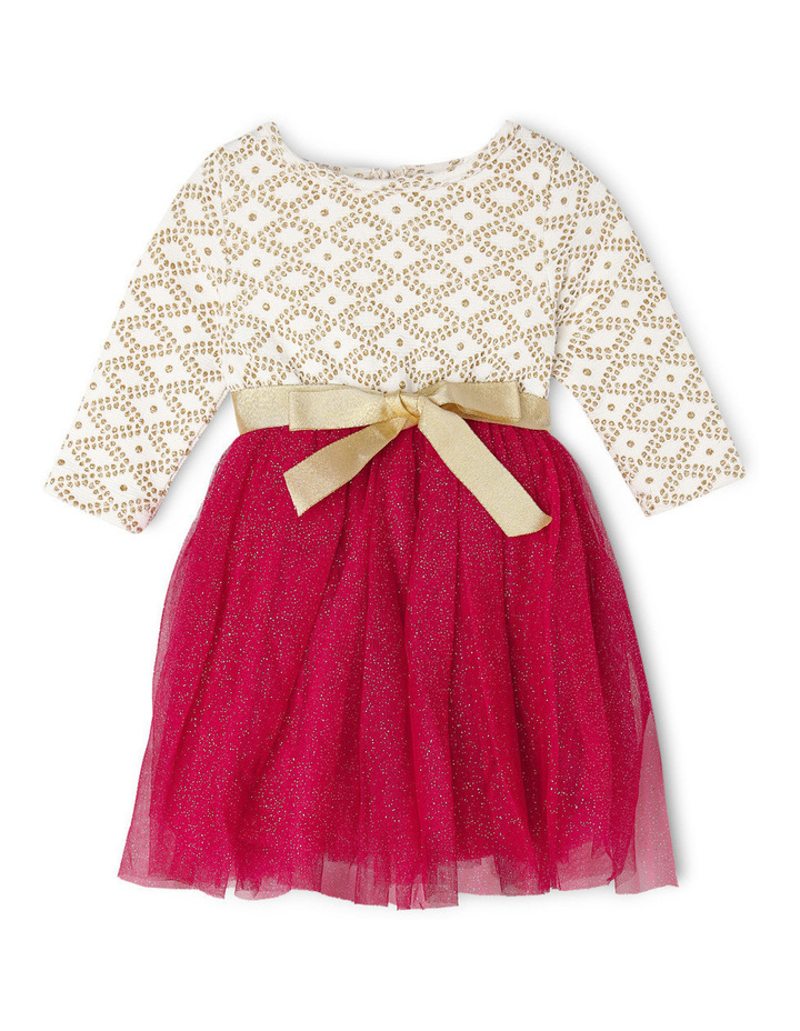 Gold Glitter Knit Burgundy Skirt Tutu 0-2 image 1