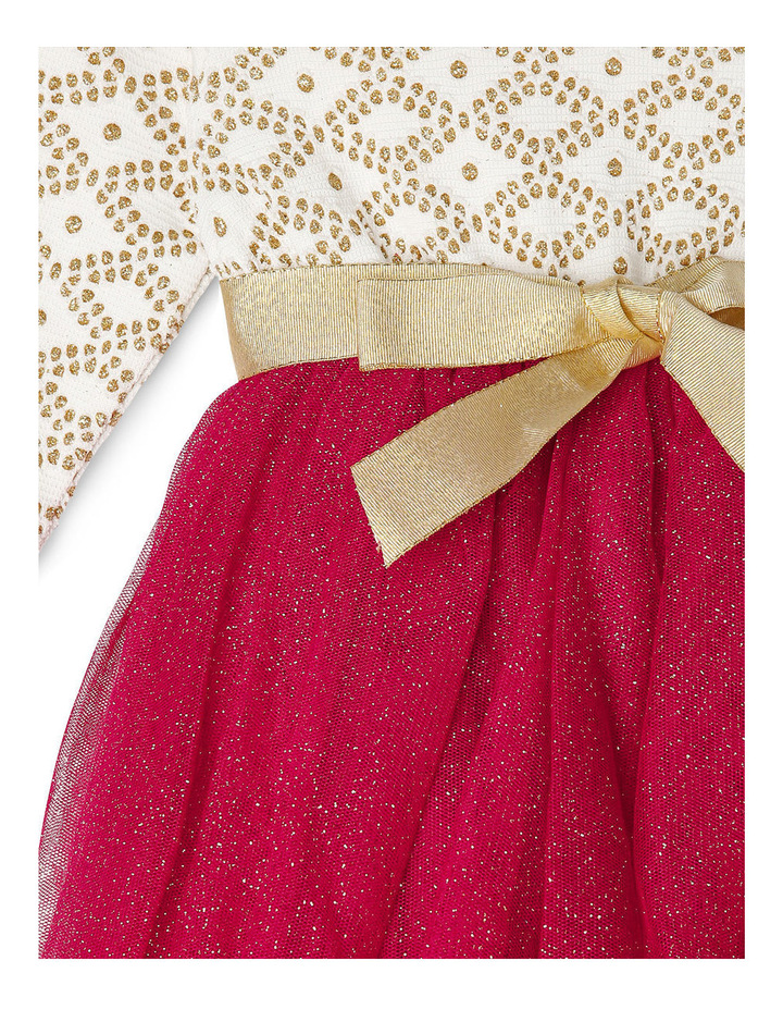 Gold Glitter Knit Burgundy Skirt Tutu 0-2 image 2