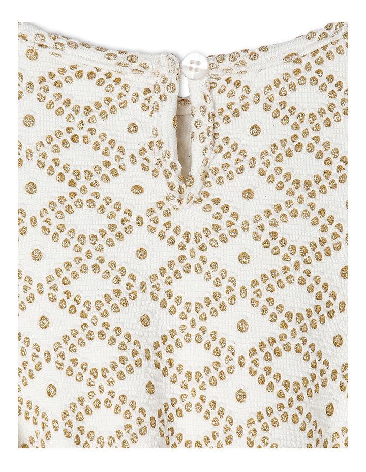 Gold Glitter Knit Burgundy Skirt Tutu 3-8 image 3