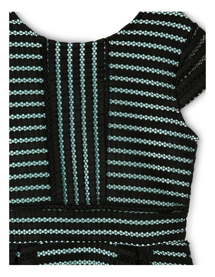 Textured Stripe Mesh Knit Skater Dress 9-16 image 3